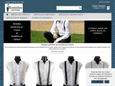 Bretelles-Hommes.fr : Boutique de bretelles
