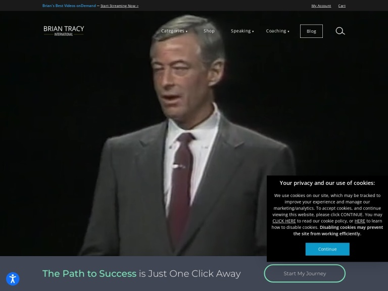 BrianBracy.com screenshot