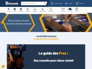 Capture d'écran pour bricovis.fr