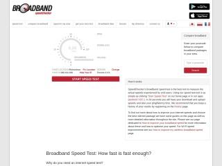 Screenshot for broadbandspeedchecker.co.uk