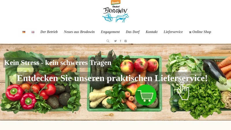 www.brodowin.de Vorschau, Ökodorf Brodwin