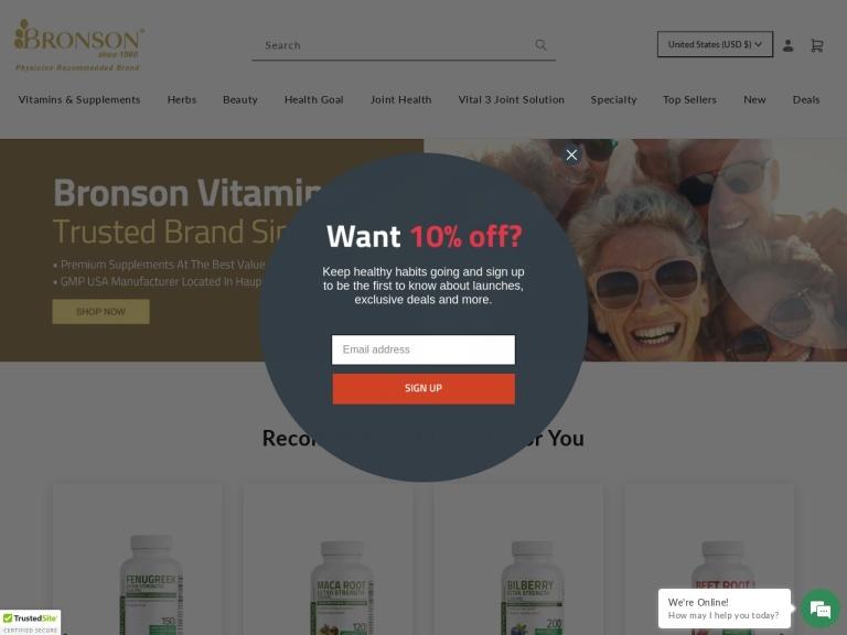 Bronson Vitamins Coupon Codes