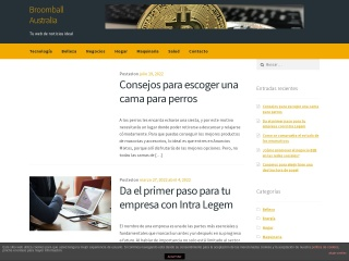 Screenshot for broomballaustralia.org