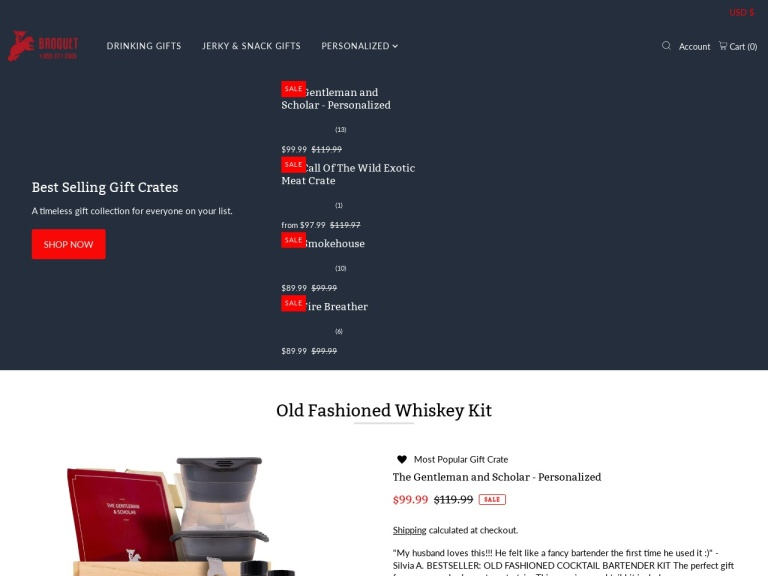 Broquet.co - Awesomer Gifts for Guys Coupon Codes