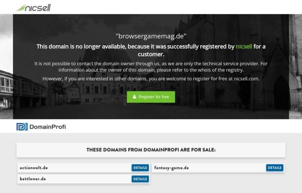 Vorschau von www.browsergamemag.de, Browsergames Mag