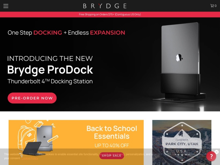 Brydge US-Brydge US- Save $60 on Gold iPad Pro 10.5-inch (2nd Gen) Keyboard for a Limited Time! Comes with Adjustable Backlit Keys all on a Premium Aluminum Body at Brydge.com. Shop Now!