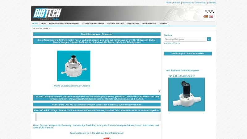 www.btflowmeter.com Vorschau, B.I.O-TECH e.K. - Durchflussmesstechnik