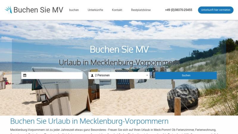 www.buchen-sie-mv.de Vorschau, Buchen Sie MV