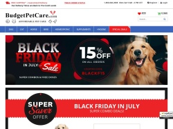 BudgetPetCare.com screenshot