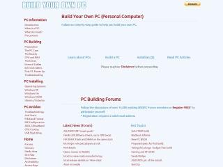 Screenshot for buildyourown.org.uk