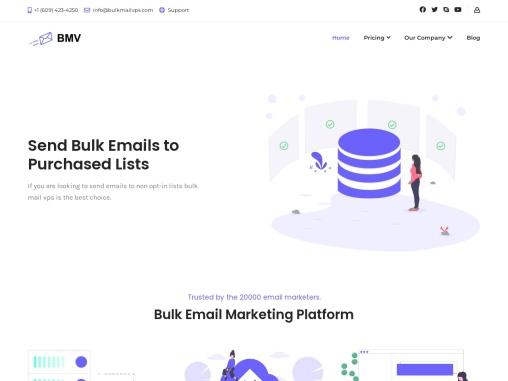 bulk email smtp server hosting