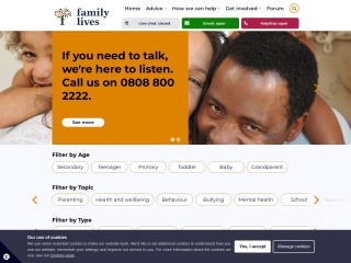 Screenshot for bullying.co.uk