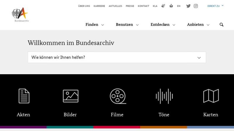www.bundesarchiv.de Vorschau, Bundesarchiv Online
