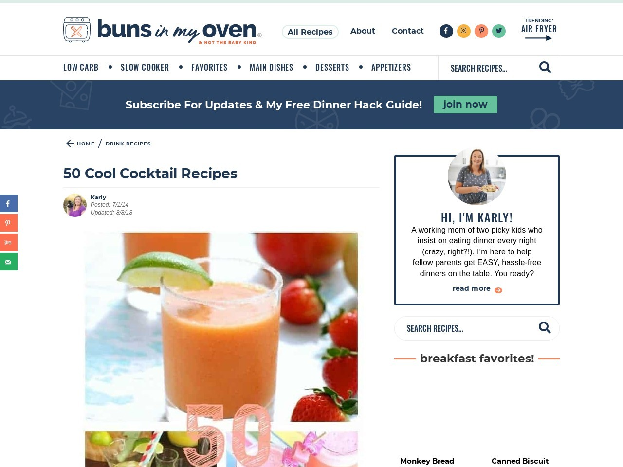 Buns In My Oven » 50 Cool Cocktail Recipes