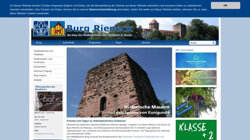 www.burg-rieneck.de Vorschau, Pfadfinderburg Rieneck