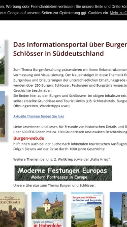 Vorschau der mobilen Webseite www.burgen-web.de, Burgen-Web.de