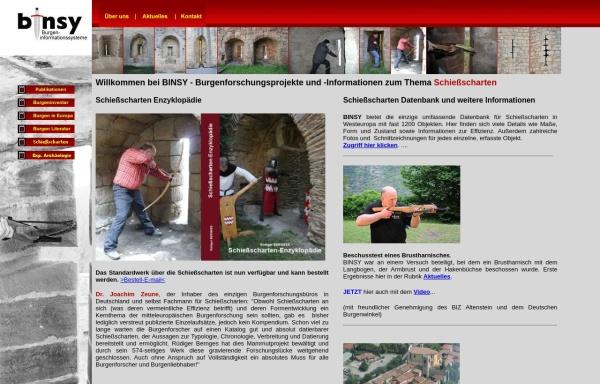 Vorschau von www.burginfo.de, Burgeninformationssystem (BINSY)