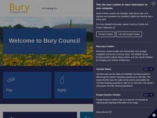 Screenshot for bury.gov.uk