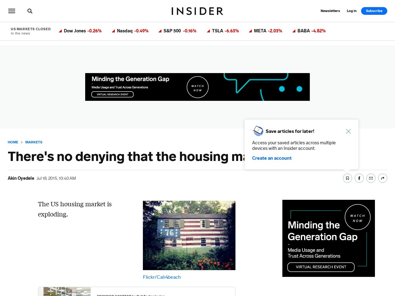 Housing market recovery – Business Insider