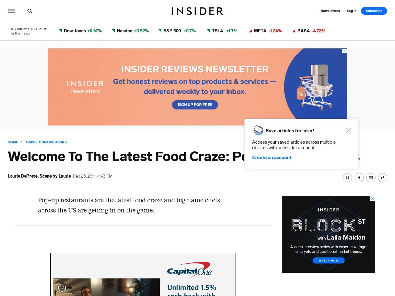Welcome To The Latest Food Craze: Pop-Up Restaurants …