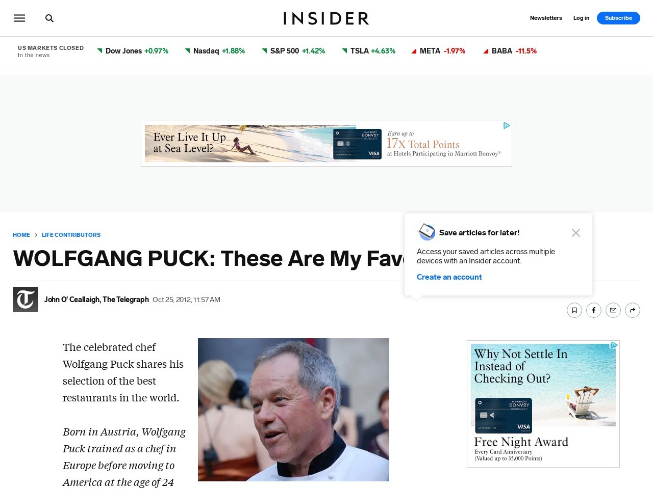 WOLFGANG PUCK: These Are My Favorite Restaurants – Business …