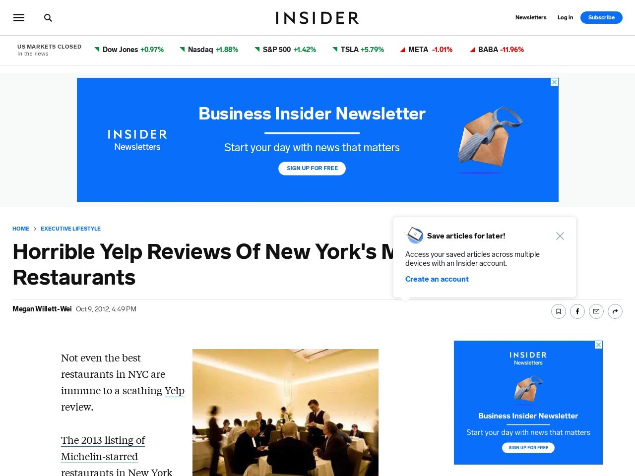 Yelp Reviews of Michelin Restaurants – Business Insider