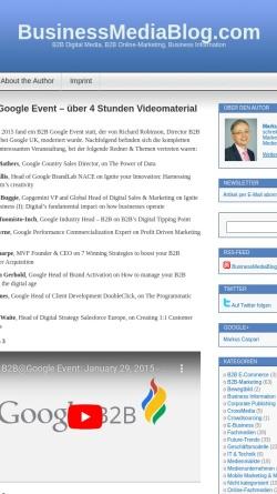 Vorschau der mobilen Webseite www.businessmediablog.com, BusinessMediaBlog.com