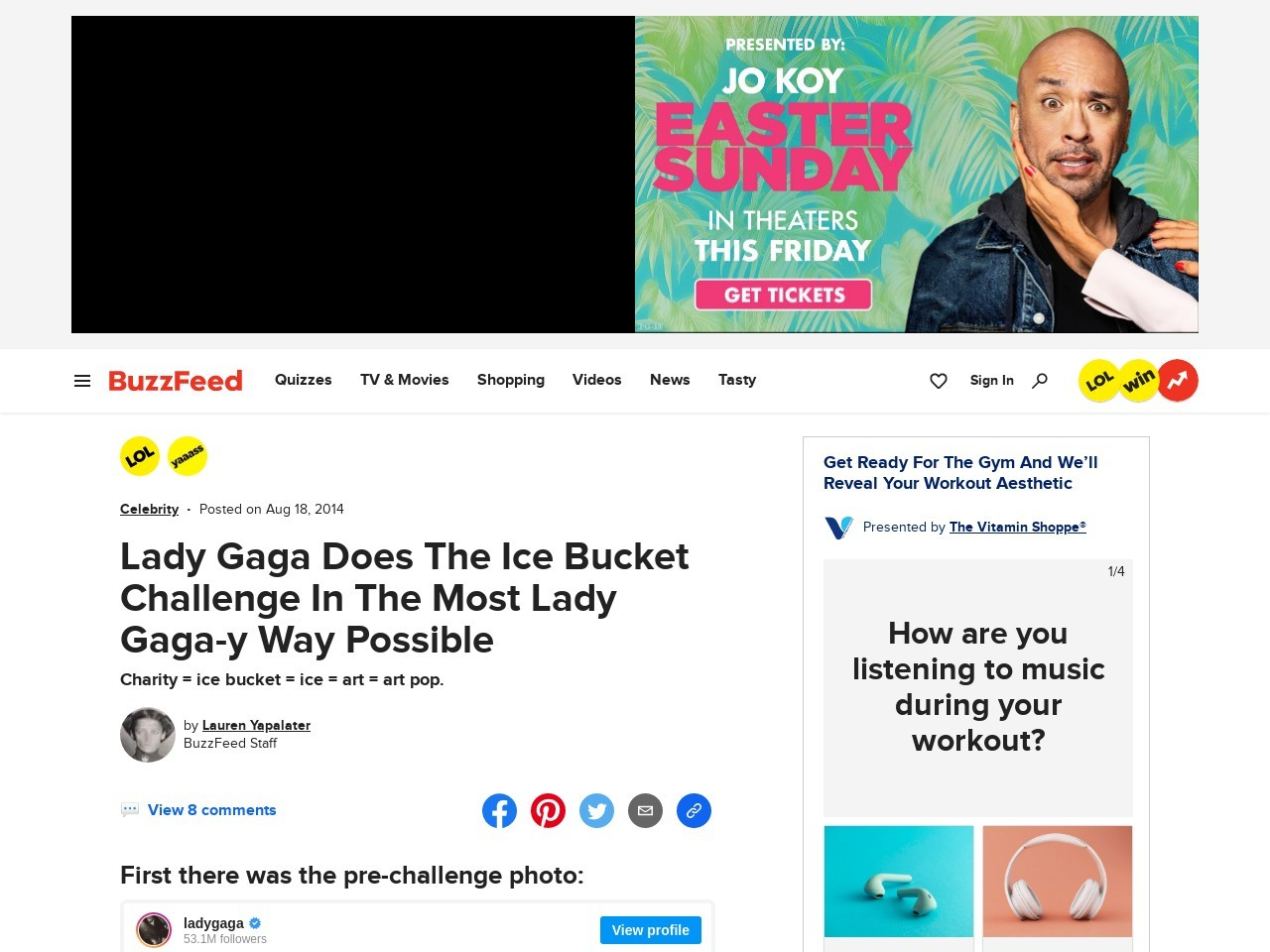 Lady Gaga Does The Ice Bucket Challenge In The Most Lady Gaga-y Way Possible