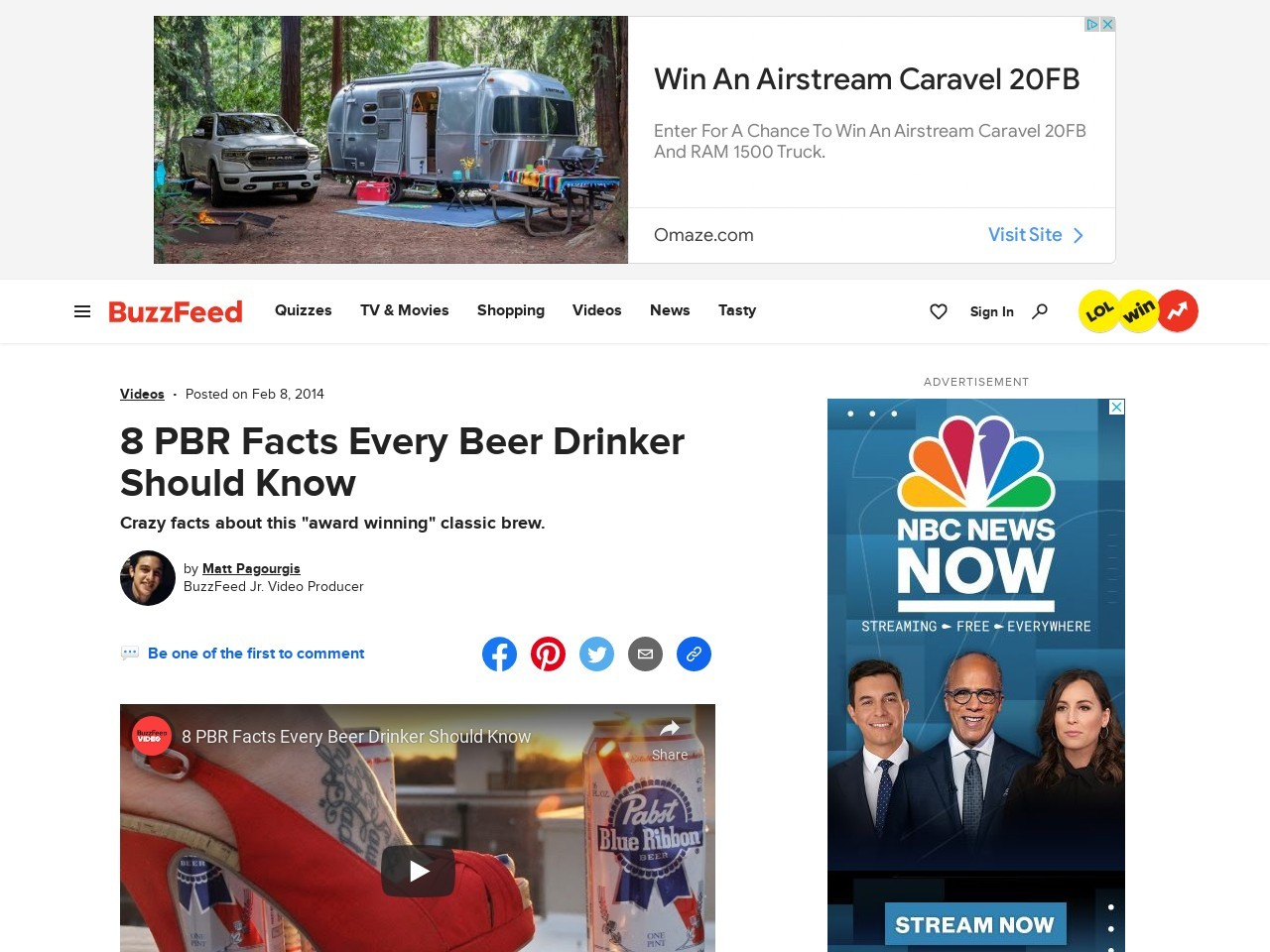 8 PBR Facts Every Beer Drinker Should Know