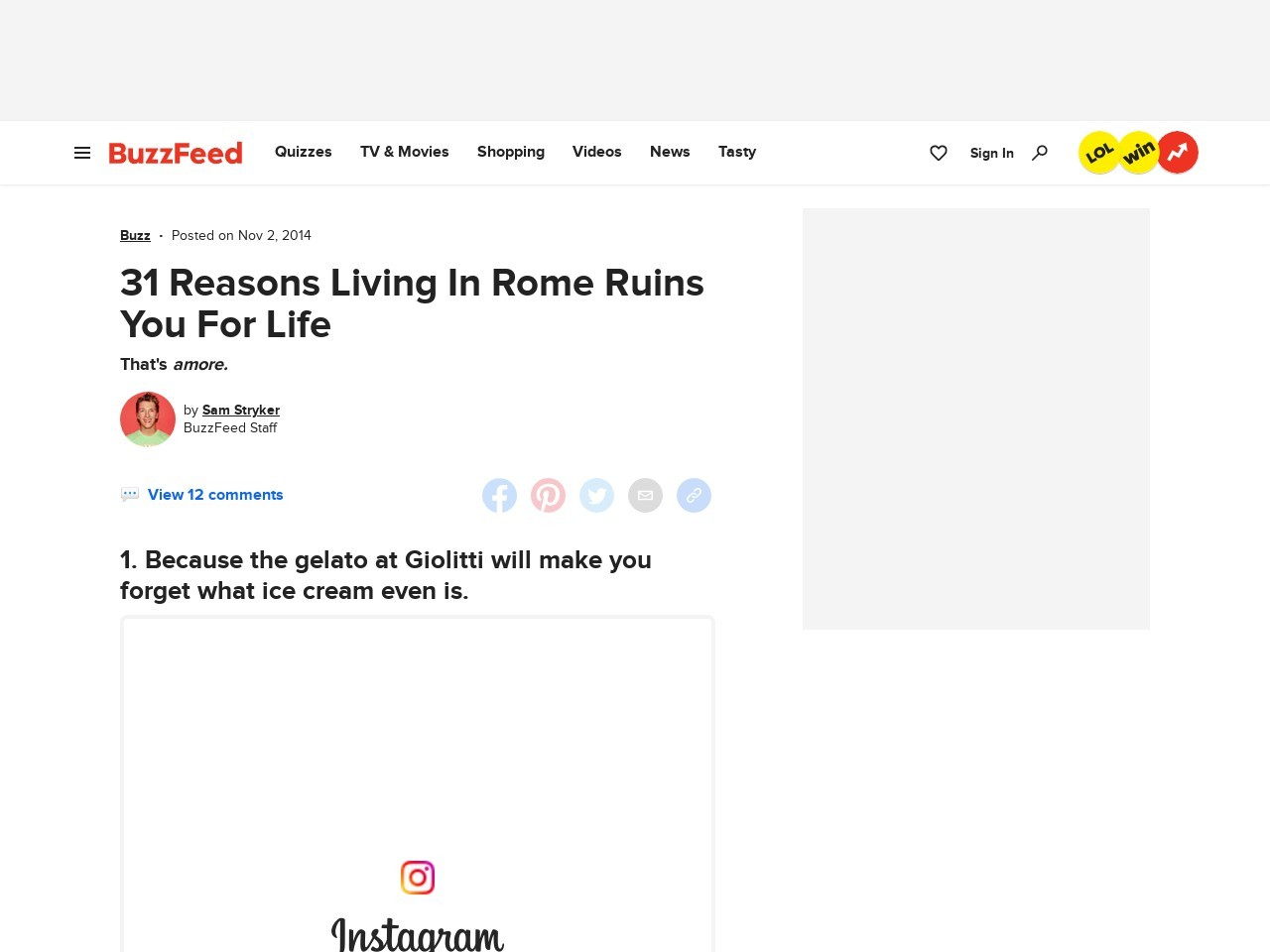 31 Reasons Living In Rome Ruins You For Life