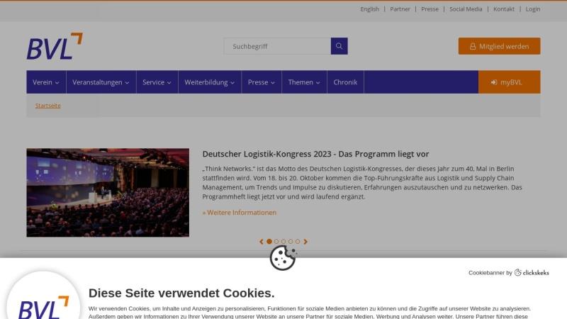 www.bvl.de Vorschau, BVL Bundesvereinigung Logistik e. V.