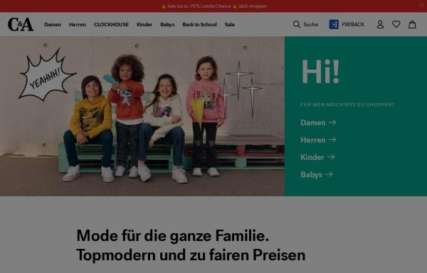 Vorschau von www.c-and-a.com, C&A Online GmbH