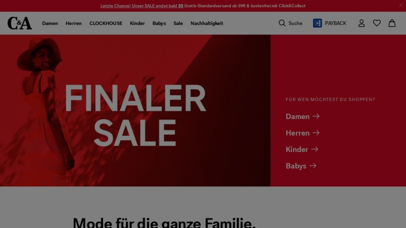 www.c-and-a.com Vorschau, C&A Online GmbH
