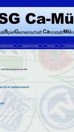 Vorschau der mobilen Webseite www.ca-mue-max-handball.de, HSG Ca-Mü-Max