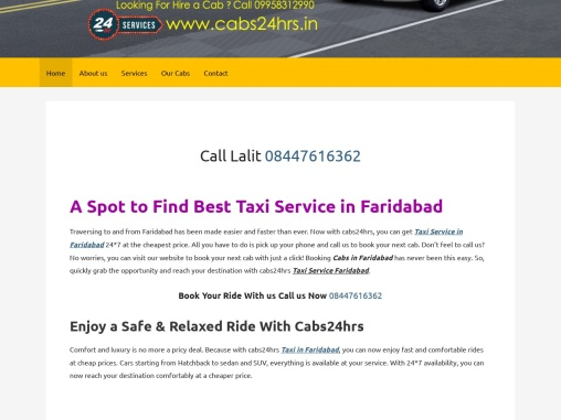 Taxi Services In Faridabad – Rent a Taxi at Cheap prices in Faridabad