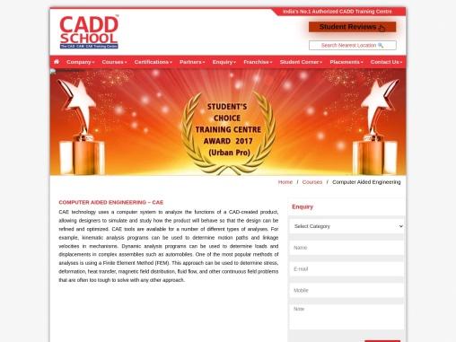 CAE | CADD SCHOOL | Computer Aided Engineering Training in Chennai