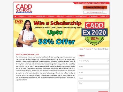 FEM|CADD SCHOOL | Finite Element Method software training in Chennai