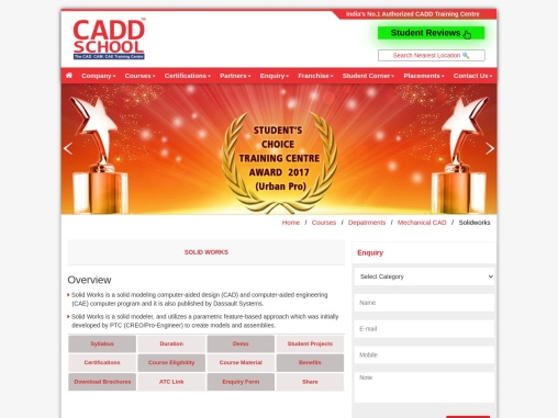 Best Solidworks Training | Solidworks Courses – CADD SCHOOL