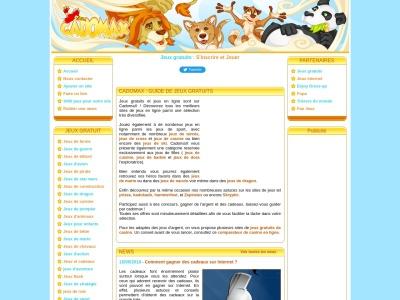 Cadomax.com : Jeux en ligne