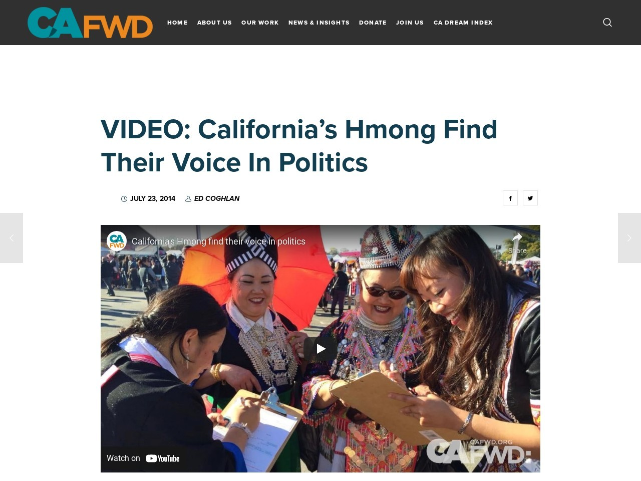 VIDEO: California's Hmong find their voice in politics