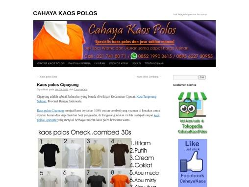 kaos polos Cipayung | Cahayakaospolos