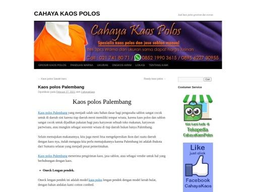 Kaos polos Palembang | Cahayakaos