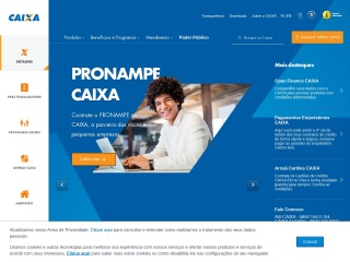 Screenshot do site caixa.gov.br