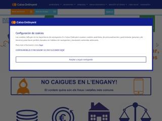 Captura de pantalla para caixaontinyent.es