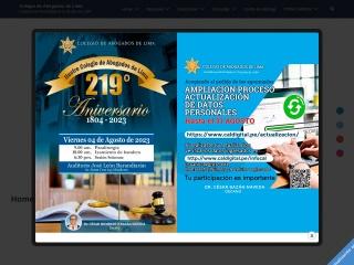 Captura de pantalla para cal.org.pe