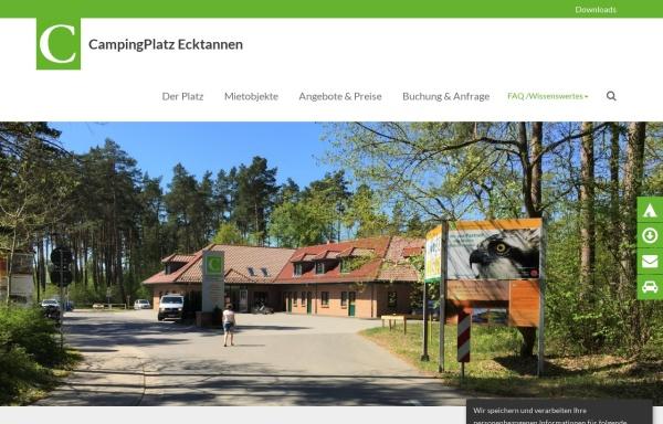 Vorschau von www.camping-ecktannen.de, CampingPlatz Ecktannen am Müritz-Nationalpark