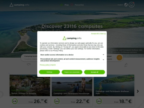 Camping.Info - Onlinesuchportal für Campingplätze