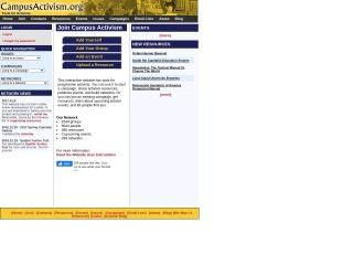 Screenshot for campusactivism.org