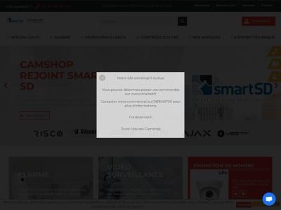 Camshop.fr : équipements de vidéosurveillance hi-tech