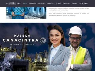 Captura de pantalla para canacintrapuebla.org.mx